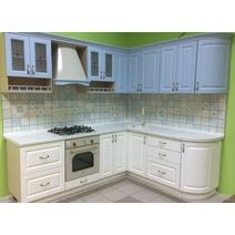 Кухня Кантри Багет с фризом прямой в ПВХ пленке 2,4 м, фото 2