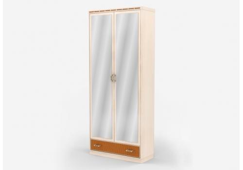Кэри Голд Шкаф 2-х дверный с зеркалом /гл 390, фото 1