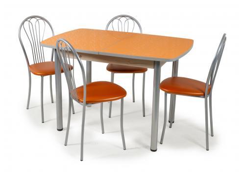 Стол обеденный раздвижной Лаванда+4 стула Ромашка, фото 1
