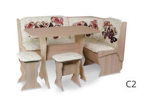 Кухонный уголок Орхидея / Автор / столешница термопластик, фото 1