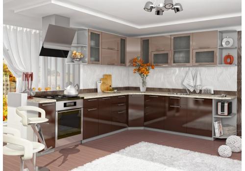 Кухня Олива Шкаф верхний торцевой угловой ПТ 400 / h-700 / h-900, фото 5