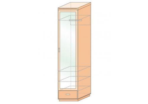 Кэри Голд Шкаф 1-дверный с зеркалом /гл. 586, фото 2