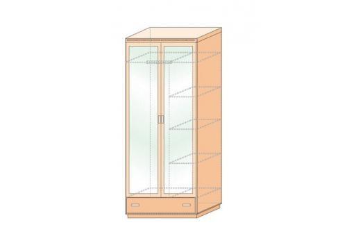 Кэри Голд Шкаф 2-дверный с зеркалом /гл 586, фото 2