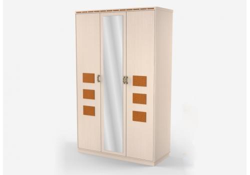 Кэри Голд Шкаф 3-дверный с зеркалом, фото 1