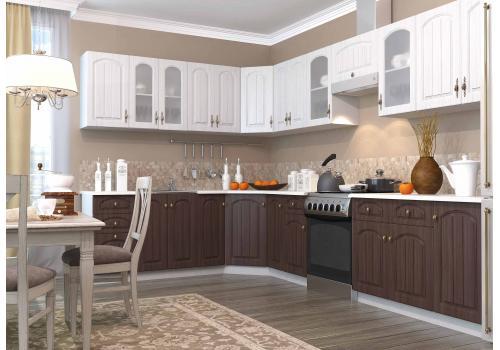 Кухня Монако ПУ 600*600 Шкаф верхний угловой / h-700 / h-900, фото 3