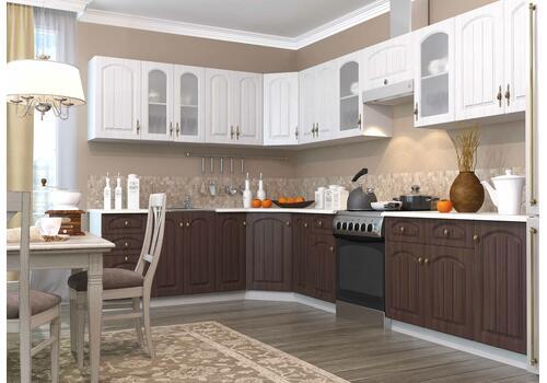 Кухня Монако ПУС 550*550 Шкаф верхний угловой стекло / h-700 / h-900, фото 3