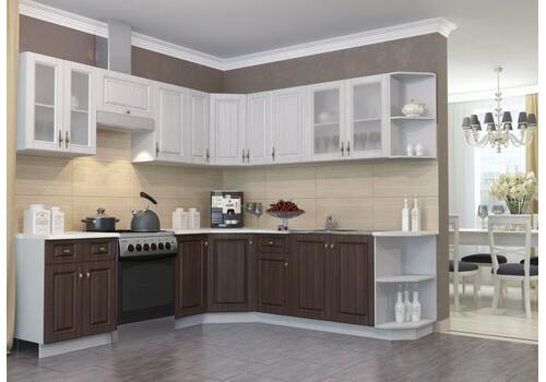 Кухня Империя Шкаф верхний угловой стекло ПУС 550*550 / h-700 / h-900, фото 3