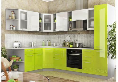 Кухня Капля Шкаф верхний угловой ПУС 550*550 / h-700 / h-900, фото 2