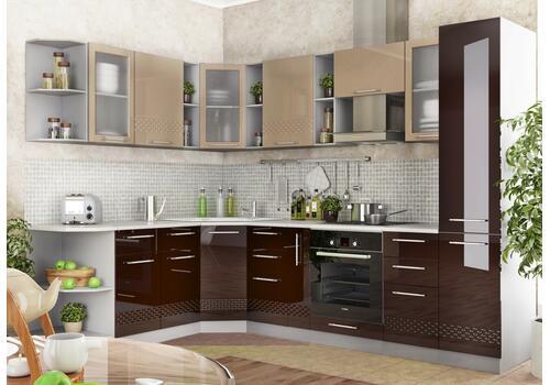 Кухня Капля Шкаф верхний угловой ПУ 600*600 / h-700 / h-900, фото 3