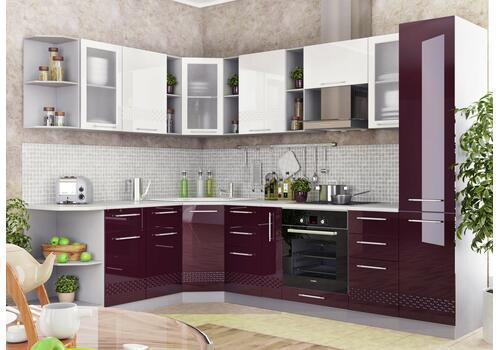 Кухня Капля Шкаф верхний угловой ПУ 600*600 / h-700 / h-900, фото 4