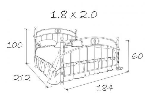 Кровать кованая Атланта 1.8, фото 5