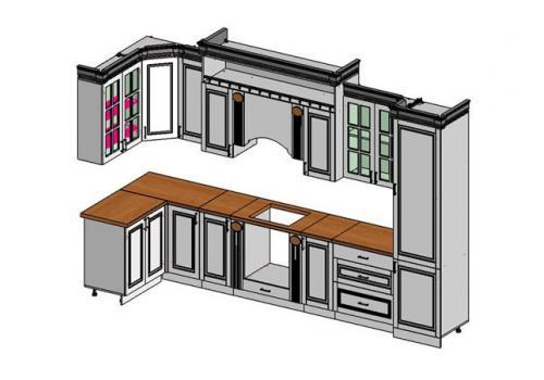Кухня Верона угловая 4100*1400, фото 2